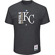 Majestic Men's Kansas City Royals Authentic Collection Grey T-Shirt