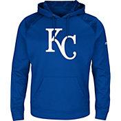 Majestic Men's Kansas City Royals Therma Base Royal Pullover Hoodie