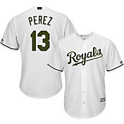 Majestic Men's Replica Kansas City Royals Salvador Perez #13 2017 Memorial Day Cool Base Jersey