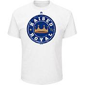 "Majestic Men's Kansas City Royals ""Raised Royal"" White T-Shirt"