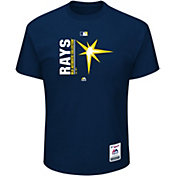 Majestic Men's Tampa Bay Rays Authentic Collection Navy T-Shirt