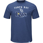 Majestic Men's Tampa Bay Rays Stoked Navy T-Shirt