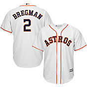Majestic Men's Replica Houston Astros Alex Bregman #2 Cool Base Home White Jersey