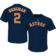 Majestic Men's Houston Astros Alex Bregman #2 Navy T-Shirt