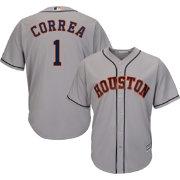 5dadee3ea ... Alternate Cool Base Player Jersey Majestic Mens Replica Houston Astros  Carlos Correa 1 Cool Base Road Grey Jersey ...