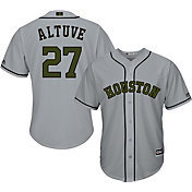 Majestic Men's Replica Houston Astros Jose Altuve #27 2017 Memorial Day Cool Base Jersey