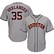 Majestic Men's Replica Houston Astros Justin Verlander #35 Cool Base Road Grey Jersey