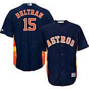 Majestic Men's Replica Houston Astros Carlos Beltran #15 Cool Base alternate navy Jersey