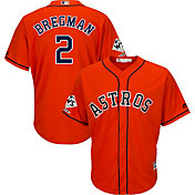 Majestic Men's 2017 World Series Champions Replica Houston Astros Alex Bregman Cool Base Alternate Orange Jersey