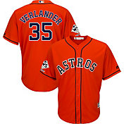 Majestic Men's 2017 World Series Champions Replica Houston Astros Justin Verlander Cool Base Alternate Orange Jersey