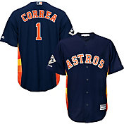 Majestic Men's 2017 World Series Champions Replica Houston Astros Carlos Correa Cool Base Alternate Navy Jersey