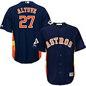 Majestic Men's 2017 World Series Champions Replica Houston Astros Jose Altuve Cool Base Alternate Navy Jersey