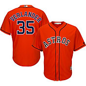 Majestic Men's Replica Houston Astros Justin Verlander #35 Cool Base Alternate Orange Jersey