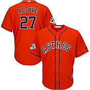 Majestic Men's 2017 World Series Replica Houston Astros Jose Altuve Cool Base Alternate Orange Jersey
