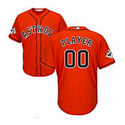 Majestic Men's Full Roster Replica 2017 World Series Houston Astros Cool Base Alternate Orange Jersey