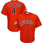 Majestic Men's 2017 World Series Champions Replica Houston Astros George Springer Cool Base Alternate Orange Jersey