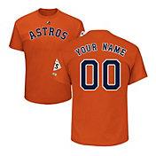 Majestic Men's Custom 2017 World Series Champions Houston Astros Orange T-Shirt