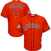 Majestic Men's 2017 World Series Replica Houston Astros Carlos Correa Cool Base Alternate Orange Jersey