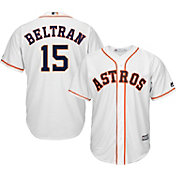 Majestic Men's Replica Houston Astros Carlos Beltran #15 Cool Base Home White Jersey