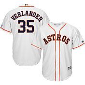 Majestic Men's Replica Houston Astros Justin Verlander #35 Cool Base Home White Jersey
