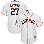 Majestic Men's 2017 World Series Champions Replica Houston Astros Jose Altuve Cool Base Home White Jersey