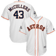 Majestic Men's 2017 World Series Champions Replica Houston Astros Lance McCullers Cool Base Home White Jersey