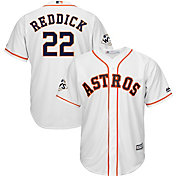 Majestic Men's 2017 World Series Replica Houston Astros Josh Reddick Cool Base Home White Jersey