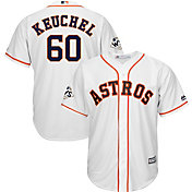 Majestic Men's 2017 World Series Replica Houston Astros Dallas Keuchel Cool Base Home White Jersey