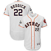 Majestic Men's 2017 World Series Champions Authentic Houston Astros Josh Reddick Flex Base Home White On-Field Jersey