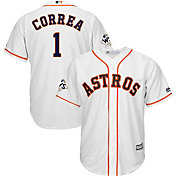 Majestic Men's 2017 World Series Replica Houston Astros Carlos Correa Cool Base Home White Jersey
