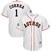 Majestic Men's 2017 World Series Replica Houston Astros Carlos Correa Cool Base Home White Jersey