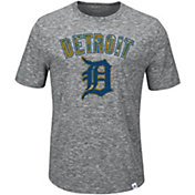 Majestic Men's Detroit Tigers Exhibition Heathered Grey T-Shirt