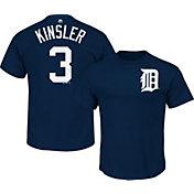 Majestic Men's Detroit Tigers Ian Kinsler #3 Navy T-Shirt
