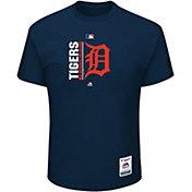 Majestic Men's Detroit Tigers Authentic Collection Navy T-Shirt