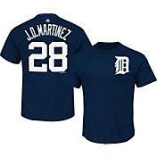 Majestic Men's Detroit Tigers J.D. Martinez #28 Navy T-Shirt