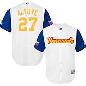 Majestic Men's Replica 2017 WBC Venezuela Jose Altuve #27 Cool Base Jersey