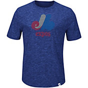 Majestic Men's Motreal Expos Cooperstown Royal T-Shirt