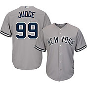 Majestic Men's Replica New York Yankees Aaron Judge #99 Cool Base Road Grey Jersey