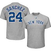 Majestic Men's New York Yankees Gary Sanchez #24 Grey T-Shirt