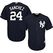 Majestic Men's Replica New York Yankees Gary Sanchez #24 Cool Base Alternate Navy Jersey