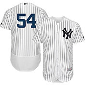 Majestic Men's Authentic New York Yankees Aroldis Chapman #54 Flex Base Home White On-Field Jersey