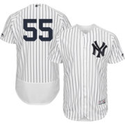 Majestic Men's Authentic New York Yankees Sonny Gray #55 Flex Base Home White On-Field Jersey