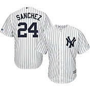 Majestic Men's Replica New York Yankees Gary Sanchez #24 Cool Base Home White Jersey