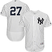 Majestic Men's Authentic New York Yankees Giancarlo Stanton #27 Flex Base Home White On-Field Jersey