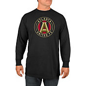 Majestic Men's Atlanta United Logo Black Long Sleeve T-Shirt