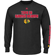 Majestic Men's Chicago Blackhawks Black Long Sleeve T-Shirt