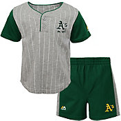 Majestic Toddler Oakland Athletics Batter Up Shorts & Top Set