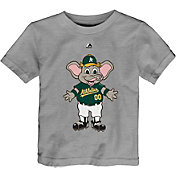 Majestic Toddler Oakland Athletics Mascot Grey T-Shirt