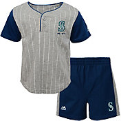Majestic Toddler Seattle Mariners Batter Up Shorts & Top Set