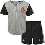 Majestic Toddler Baltimore Orioles Batter Up Shorts & Top Set